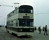 Jubilee car 761, Blackpool, October 1979.  In service, on its way to Little Bispham.  Photo by Les Tindall.