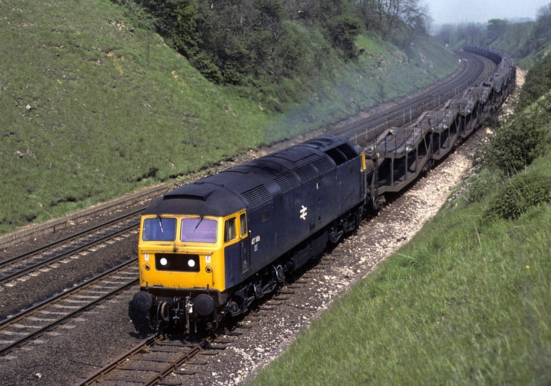 47149, High Dyke, 20 May 1978.  Empty cartics on the up slow.  Photo by Les Tindall.