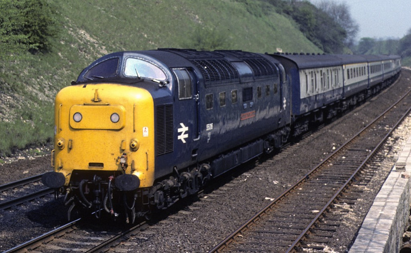 55016 Gordon Highlander, High Dyke, 20 May 1978.  0820 Newcastle - King's Cross.  Photo by Les Tindall.