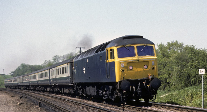 47547, Stoke tunnel, 28 May 1977.  0950 Edinburgh - King's Cross Flying Scotsman.  Photo by Les Tindall.