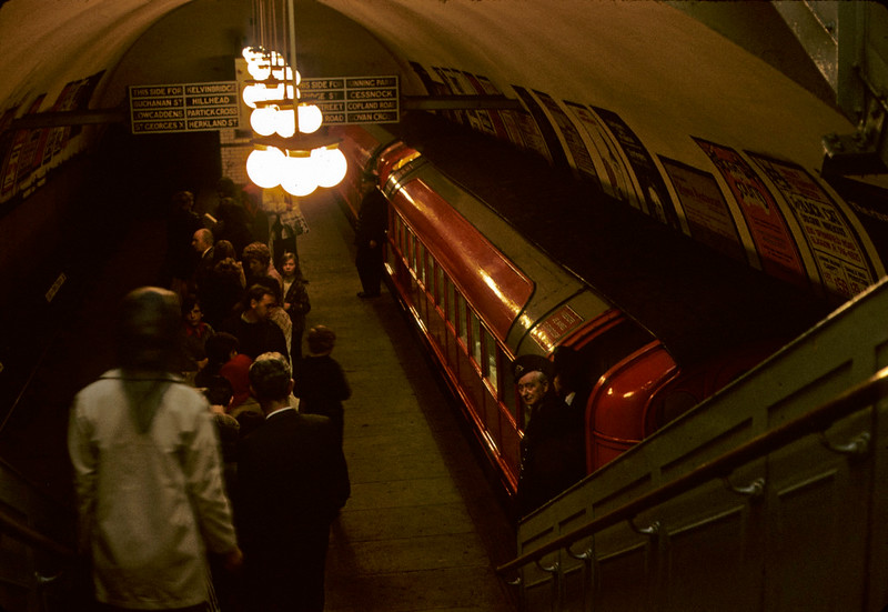 St Enoch station, Glasgow Underground, 11 May 1974 2. Photo by Les Tindall.