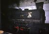 King, Ladysmith coal washery, Whitehaven, 9 June 1973.  Barclay 0-4-0ST 1448 / 1919 inside the shed.  It worked in Lancashire from new until 1972 when it moved to Whitehaven where it worked until late in 1974.  It was scrapped in 1976.  Photo by Les Tindall.