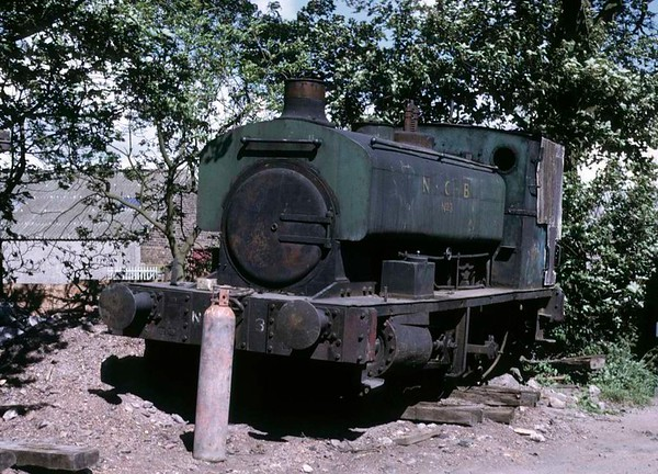 National Coal Board No 3, Thomas Muir's scrapyard, Thornton, 14 June 1973.  Barclay 0-4-0ST 946 / 1902 from Frances Colliery.  It was still at Muir's scrapyard in 2015.  Photo by Les Tindall.