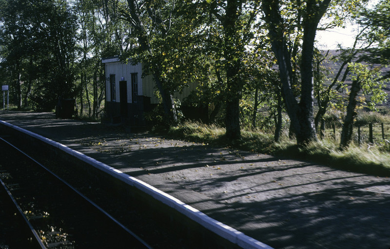 Forsinard station, 7 October 1972 Photo by Les Tindall.