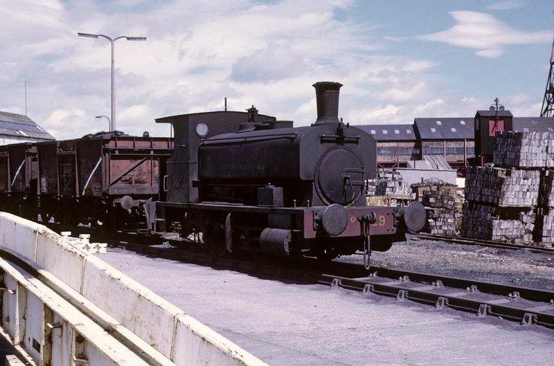 National Coal Board Scottish North Area 0-4-0ST No 29, Frances colliery, June 1973.  Barclay 1142 / 1908 stands out of use.  In 2011 it was preserved at Prestongrange.  Photo by Les Tindall.