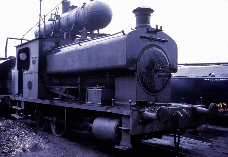 National Coal Board 0-6-0ST No LV 8, Polkemmet colliery, Whitburn, June 1973.  Barclay 1175 / 1909.  At the time of this photo it had recently been transferred from Lady Victoria colliery. Newtongrange.  In 2017 it was preserved at what is now Polkemmet Country Park.  Photo by Les Tindall.
