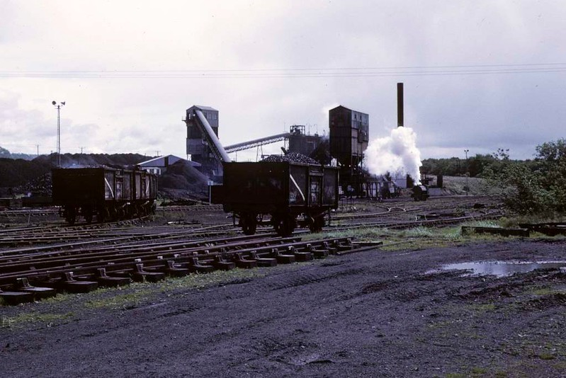 National Coal Board Scottish North Area 0-6-0ST No 5, Comrie colliery, June 1973 3.  A view of the yard.  Photo by Les Tindall.