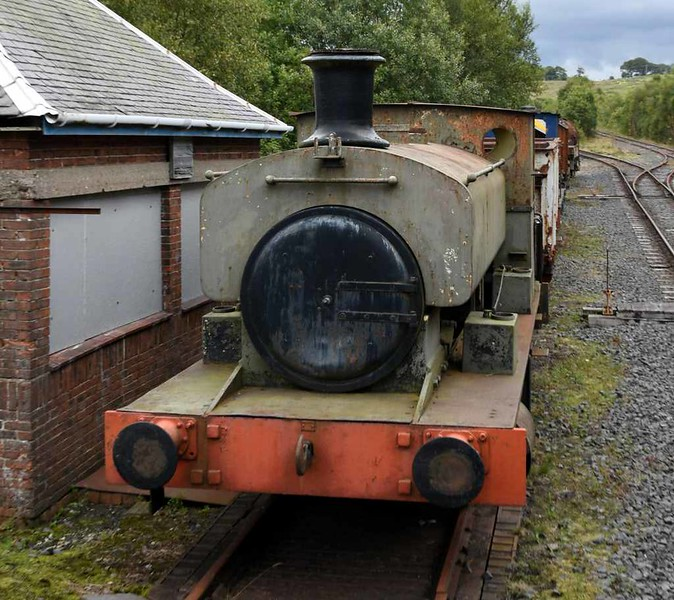 [No 19], Scottish Industrial Railway Centre, Dalmellington, 20 August 2017.  Barclay 0-4-0ST 1614 / 1918.  Originally Dalemellington Iron Co No 19, later National Coal Board West Ayr Area No 19.