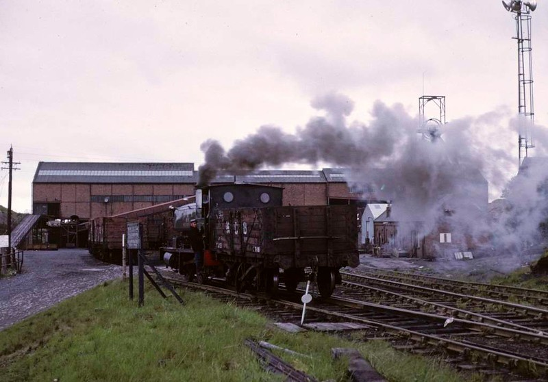 National Coal Board West Ayr Area 0-4-0ST No 19, Waterside, June 1973.  Shunting at Pennyvenie colliery.  Photo by Les Tindall.