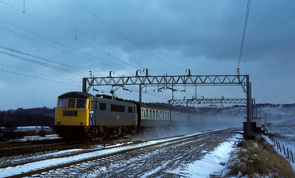 86007, Milford, 31 December 1978.  Still in service in 2016 for Freightliner as 86607. Photo by Les Tindall.