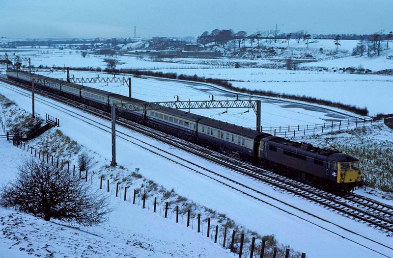 87013 John o' Gaunt, Milford, 2 January 1979.  Exported in 2009 to Bulgaria.  Photo by Les Tindall.