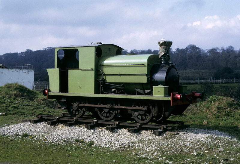 [Winston Churchill], Black Country Museum, Tipton, 27 April 1974.  Manning Wardle 0-6-0ST 2025 / 1923.  Still at the museum in 2018. Photo by Les Tindall.