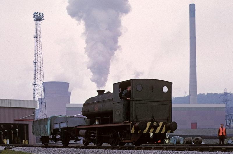 Peckett 0-4-0ST 1803 / 1933, Ironbridge power station, 20 April 1974.  Photo by Les Tindall.