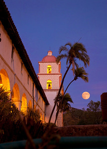 The much photographed Mission in Santa Barbara, home of Brooks (photographic) Institute.  I couldn't resist, however.  Moon added later, but I think it belongs there.