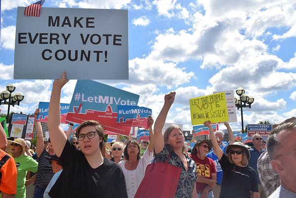 Let Michigan Vote rally in Lansing