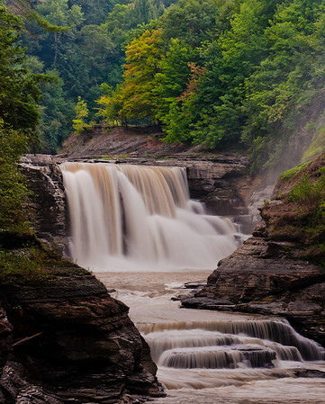 View of Lower Falls, Letchworth State Park, New York