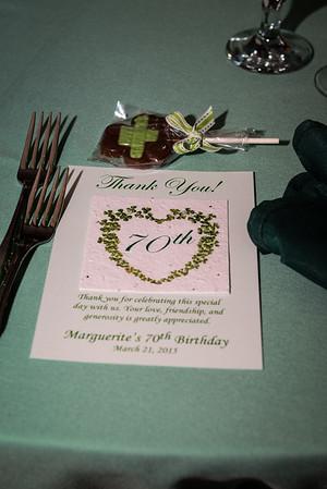 Marguerite's  70th Birthday Surprise