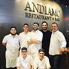 Andiamo's chefs, with owner and executive chef Jim Rogers of Newburyport, standing far right
