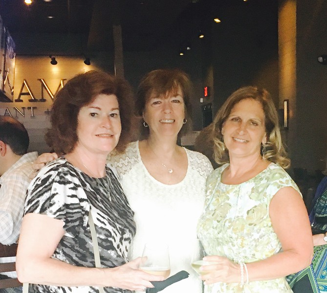 From left, Pat Corbett and Cheryl Ducharme, both of Chelmsford, and Susan O'Keefe of Westford