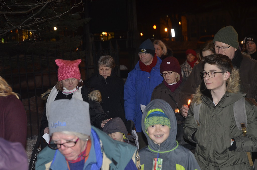 . On Valentine\'s Day people gathered in Congress Park to spread peace, love and unity.