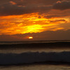 Sunset from Keawaula Beach (Yokohama Bay).