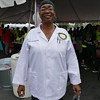 Anissa Muhammad, MPH, volunteers to provide medical screenings.