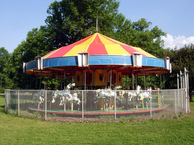 Nice little Herchell Carousel at Stewart Park in Ithaca.
