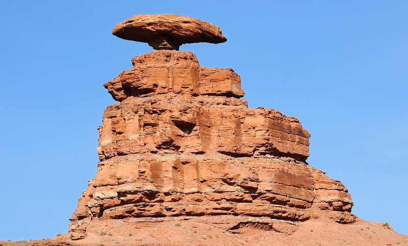 A closer view of Mexican Hat Rock, Mexican Hat, Utah, taken from a different angle than image #1. March 5, 2012. Nikon D700 and Nikkor 70-300 f/4.5-5.6 VR lens at 230mm FX.