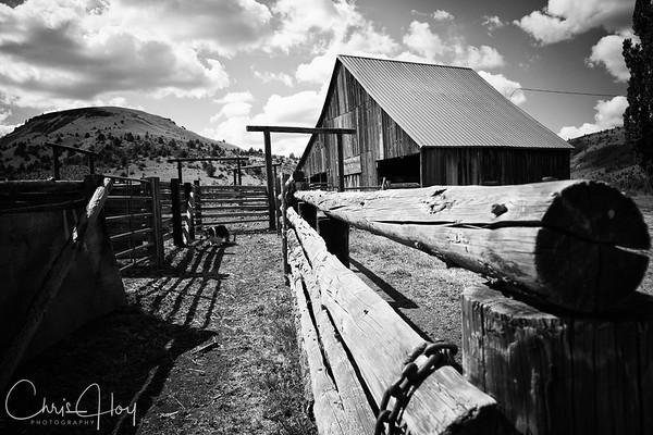 Barn at Wilson Ranch, Fossil, Oregon