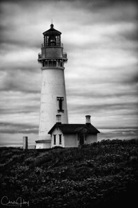 Monochrome: Yaquina Head Lighthouse  EXHIBITED: 2009 Oregon State Fair