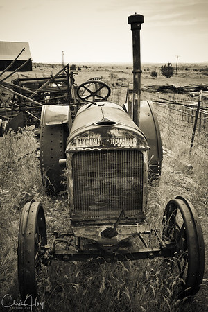 Old Tractor at Shaniko, Oregon