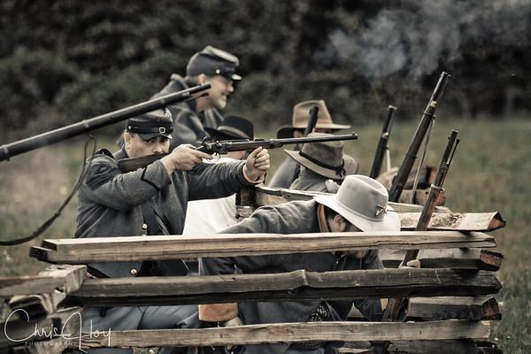 Civil War Re-enactment May 2009, Cheadle Lake