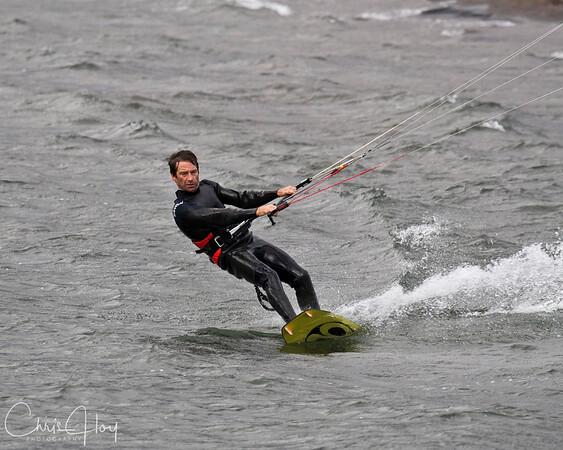 Kite Surfing at Hood River, Oregon