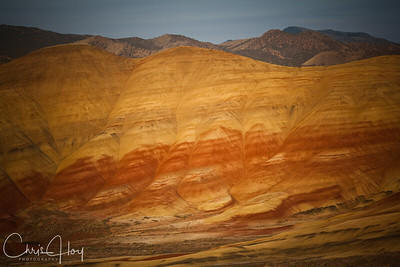 Painted Hills at Sunset.