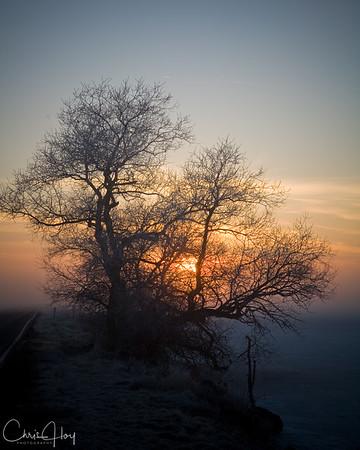 Sunrise over Lower Klamath NWR