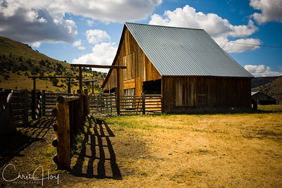 Barn at Wilson Ranch, Fossil, Oregon
