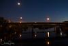 Center Street Bridge over the Willamette River at night, Salem, Oregon