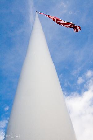 Flagpole at Dorris, California