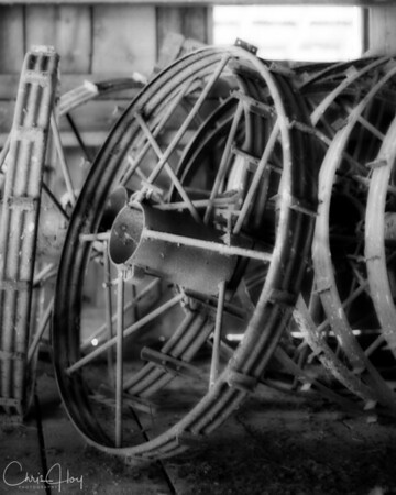 Irrigation Equipment inside the Cheadle Barn at William Finley NWR