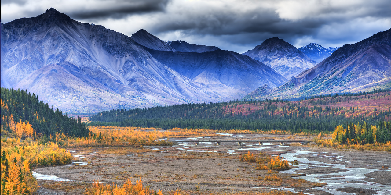 Fall, Teklanika River, Denali National Park, Alaska