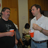 """Noted Author of several books (including """"Practical Palm Pre WebOS Projects"""") and articles, Frank Zammetti (right), talking to Roy Sutton of WebOSRoundup and WebOS101 fame.  Frank gave a talk about game development, but I wasn't able to grab a shot for this album."""