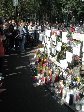 Nine Eleven Memorial in Union Square