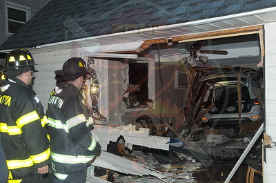 Levittown F.D. MVA w/ Car Into House 26 Jester Ln. 11/18/14