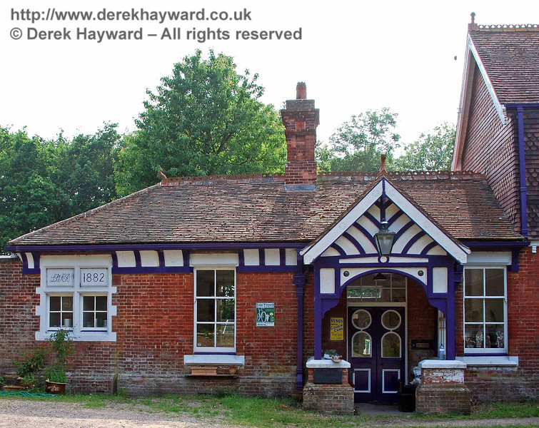 The original entrance to Barcombe Station.  10.06.2007