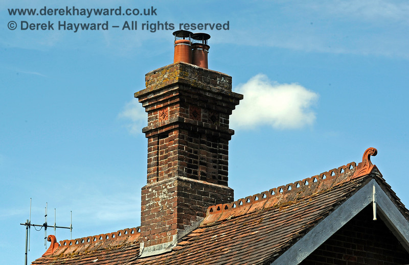Despite it's humble use, the Victorian bricklayer still provided an ornate chimney on the Porter's Room at the northern end of Barcombe Station. 20.06.2020 17980  Please note that this is private property.  Images taken by arrangement, and with the permission of the owners.