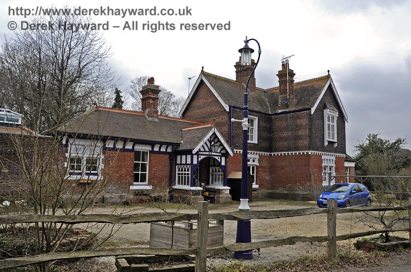 The forecourt of Barcombe Station.  03.04.2013  6554