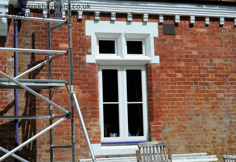One of the new downstairs doubled glazed windows at Barcombe Station. 20.06.2020 17968  Please note that this is private property.  Images taken by arrangement, and with the permission of the owners.