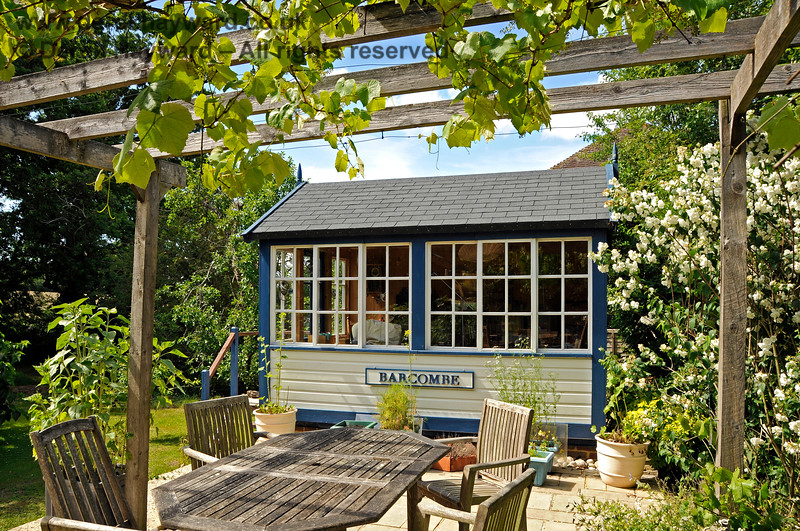 The current owners of Barcombe Station have constructed a signal box (which is not intended to be an exact replica).  In the early 1900s the box was in the position shown, but by 1910 a new building had been constructed which was parallel to the platform. 20.06.2020 20481  Please note that this is private property.  Images taken by arrangement, and with the permission of the owners.