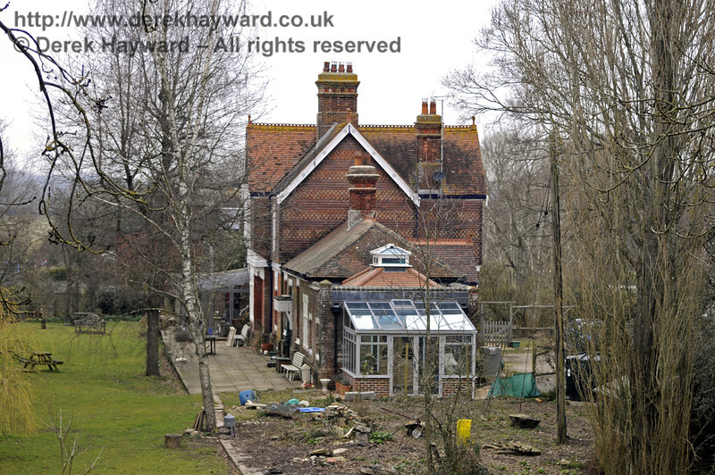 Barcombe Station from the bridge.  03.04.2013  8636