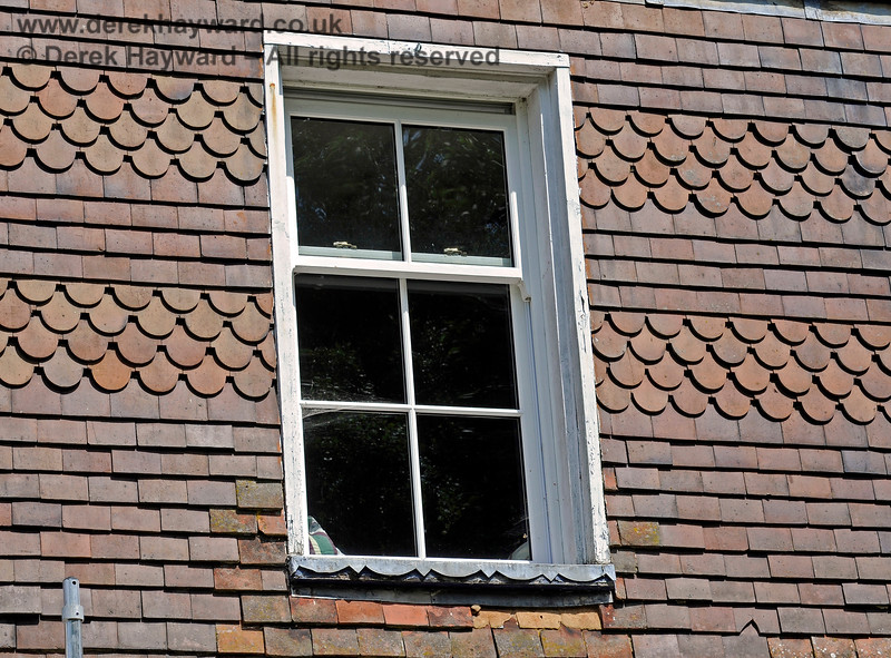 One of the original upstairs windows in the Station Master's house at Barcombe Station (yet to be replaced). 20.06.2020 17967  Please note that this is private property.  Images taken by arrangement, and with the permission of the owners.
